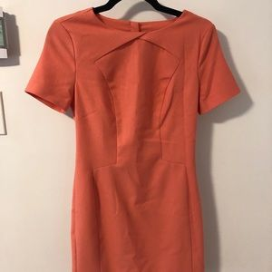 Banana Republic Coral 80s Style Mini Dress